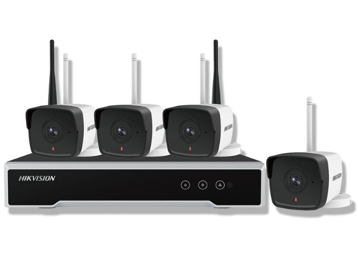 KIT 1XNVR WIFI 4CH, 4XCAM 2MP WIFI BULLET, HDD 1TB