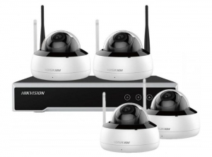 KIT 1XNVR WIFI 4CH, 4XCAM 4MP WIFI DOME, HDD 1TB W